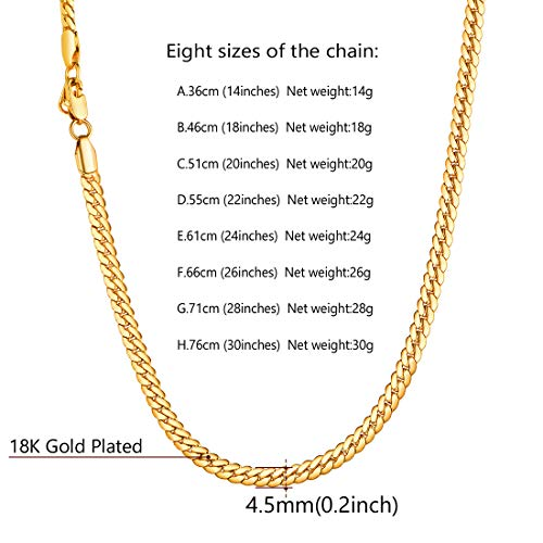 Daesar Stainless Steel Necklace Chains for Men Gothic Retro Curb Chain Gold Necklaces Men