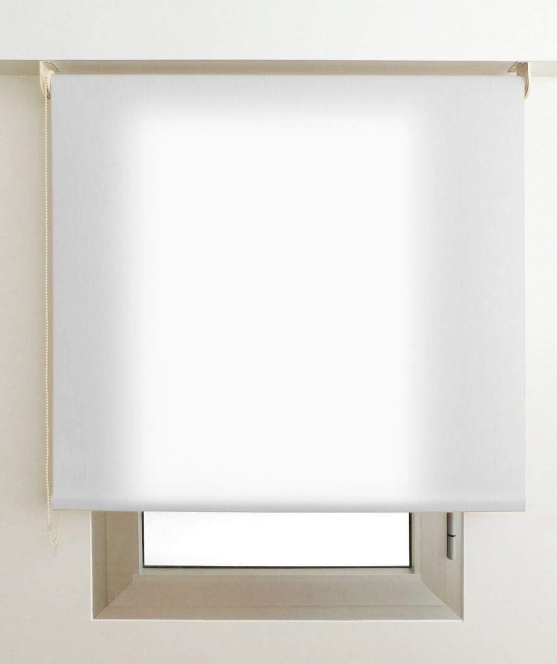 EB ESTORES BARATOS Estor Luminoso Elite (Desde 40 hasta 300cm de Ancho) Permite Paso de Mucha luz, no Permite Ver el Exterior/Interior. Color Blanco. Medida 150cm x 160cm para Ventanas y Puertas