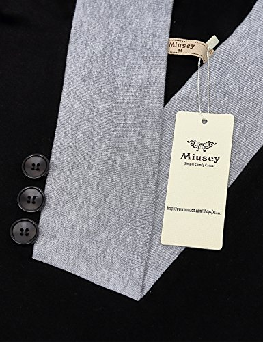 Miusey Pullover Hoodie, Women Long Sleeve Cute Pullover Hit Color Kangaroo Pocket Top Sweater T-Shirt Plus Size Plain Supreme Native X-Large Black by Miusey (Image #2)