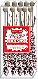 product image for Melville Candy Holiday Limited Edition Peppermint and Chocolate Hot Chocolate Stirrers Set