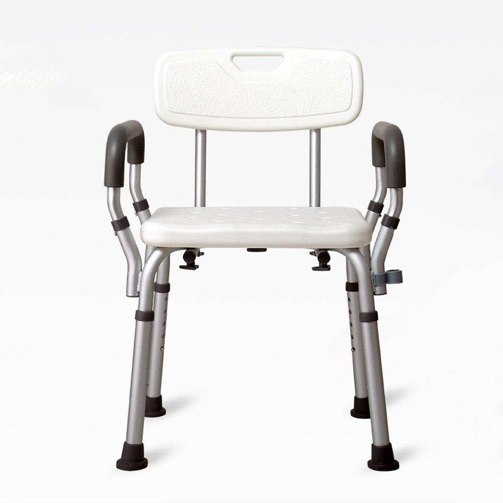 LXN デラックス高さ調節可能なアルミニウム製バス/シャワー付きの椅子(背もたれとシャワーヘッドホルダー付き) - 高齢者、妊婦、障害者に適用 (サイズ さいず : B) B  B07DMC68FK
