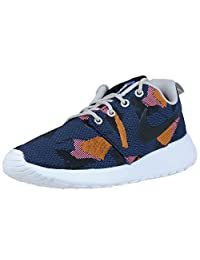 Nike Womens Roshe One JCRD Print Running Trainers 845009 Sneakers Shoes (US 6.5, game royal black 400)