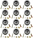 (12) DECK WHEEL ROLLER KITS for Toro Exmark 103-3168 103-4051 1-603299 Tractors by The ROP Shop