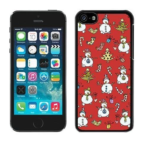 Iphone 5C Case,5C cases,Christmas snowman Iphone 5C Case Black Cover (Iphone 5c Speck Case Cheap)
