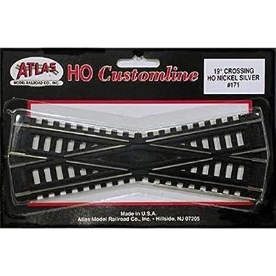 Atlas HO Scale Code 100 Custom-Line 19 Degree Crossing: Toys & Games