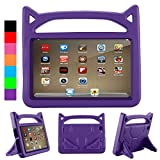 All-New Fire HD 8 2017 Cases, Fire 8 2016 Kids Cases - SHREBORN Light Weight kids-Proof Hand-Free Friendly Stand Kids Case Cover for Amazon Fire HD 8 inch Tablet(7th Gen 2017/6th Gen 2016) - Purple
