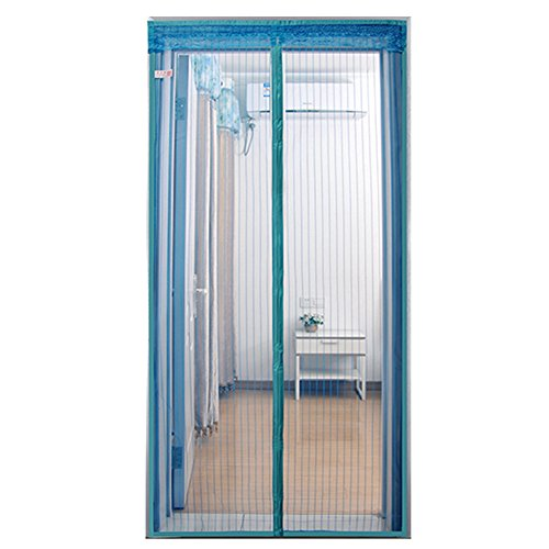 La Puerta De Malla Magnética Mantiene Los Insectos Fuera Del Mosquito Fácil De Instalar,Blue,39*80
