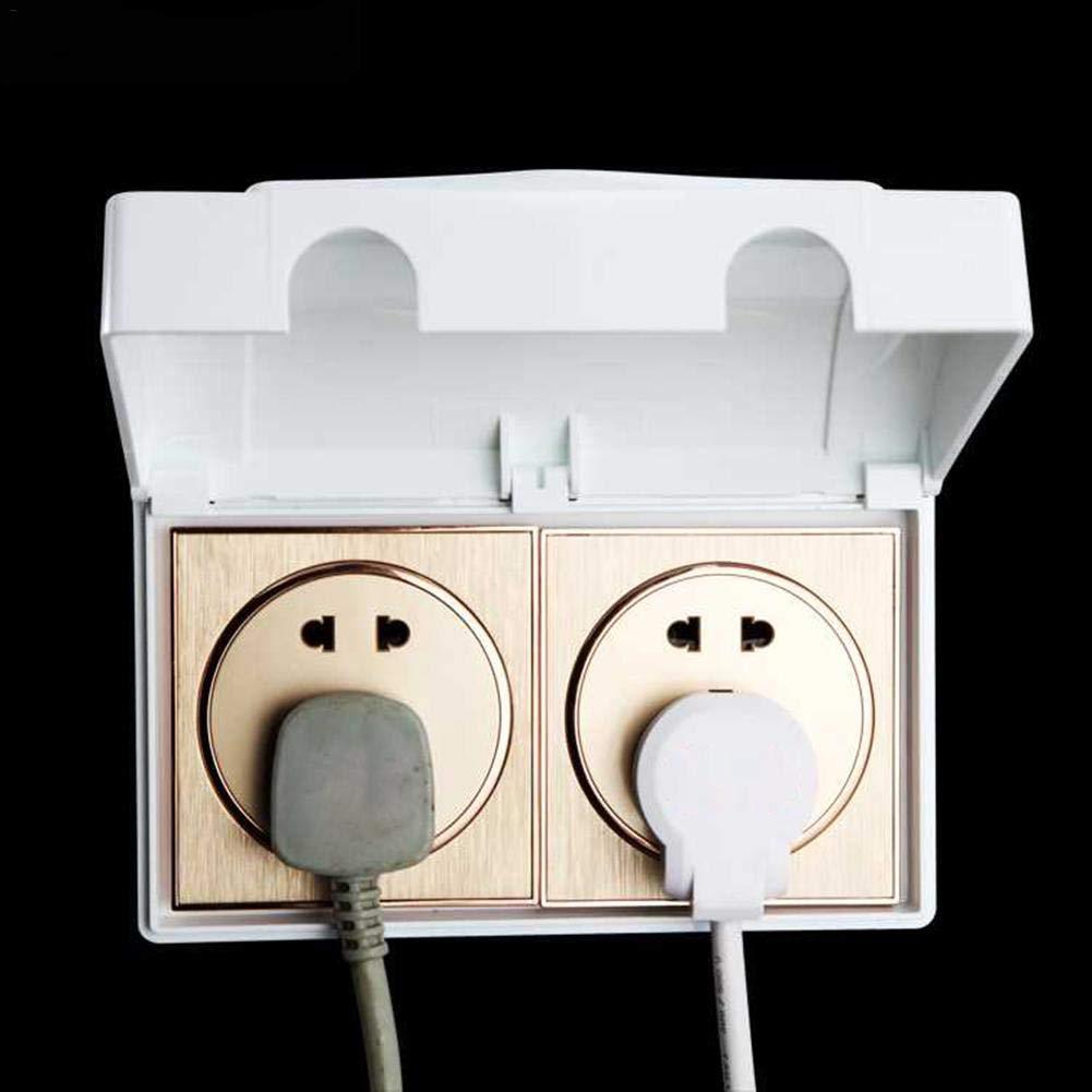 Ritapreaty Steckdosenabdeckung Doppelter Steckdosenschutz f/ür 86 Schalter Elektrische Steckdosenabdeckung Baby Kindersicherheitsbox 7,09 x 3,74 x 1,6 Zoll