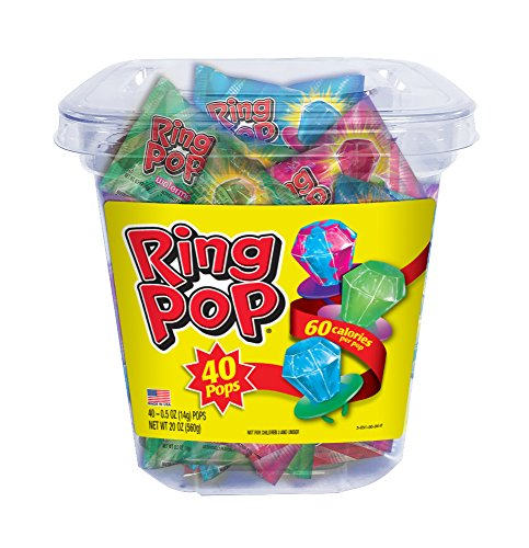 (Ring Pop Candy Lollipops, 0.5 Ounce (40 Count)