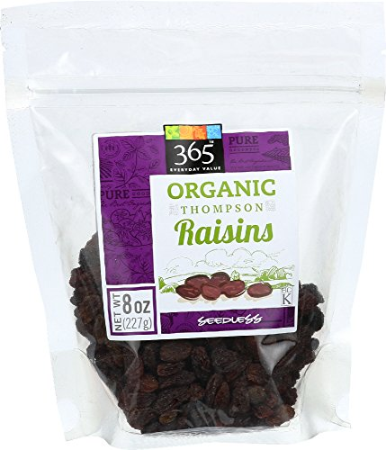365 Everyday Value, Organic Thompson Raisins Seedless, 8 Ounce