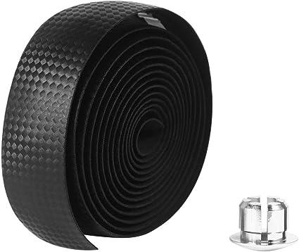Non-Adhesive Bicycle Handlebar Tape Bike Tape Bar Wrap 2PCS with Plugs