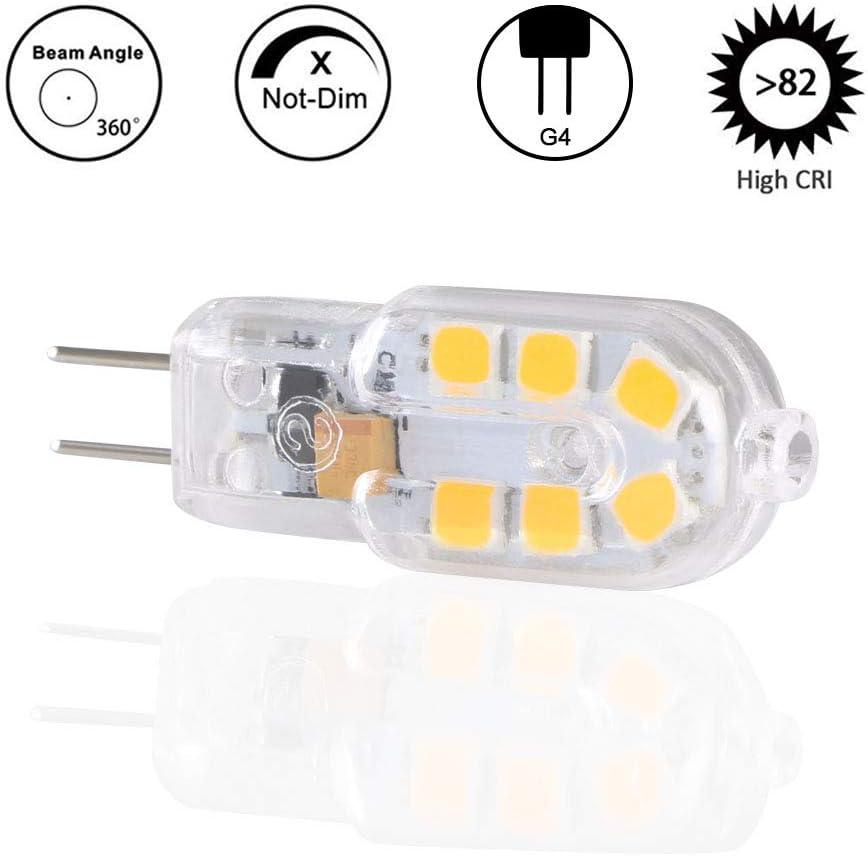 Vicloon 6-Pack G4 LED Ampoule,10-20W Ampoules Halog/ènes /Équivalentes,Ampoule LED G4 1.8W /Économie Pour Les Ampoules de Hotte,180LM