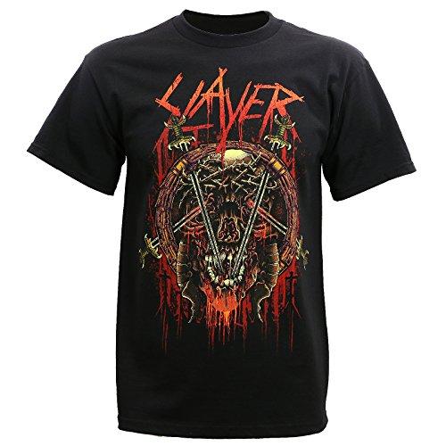Slayer Rotting Skull Mens Short Sleeve T-shirt-Black-xxl - Slayer T-shirts Band