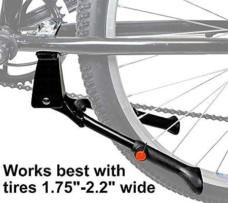 "Non-slip Double Leg Center Mount Bike Kickstand Aluminum Adjustable 24"" 28"""