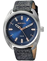 Diesel Men's 'Fastback' Quartz Stainless Steel and Leather Casual Watch, Color:Blue (Model: DZ1854)