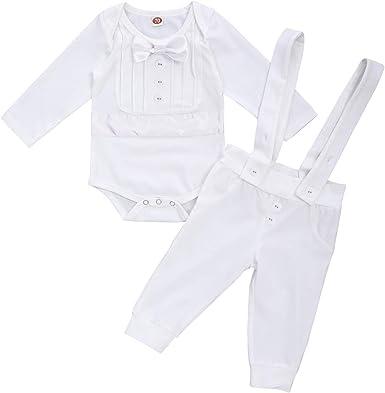 Baby Boys Smart Bodysuit Shirt with Waistcoat Christening Wedding Birthday