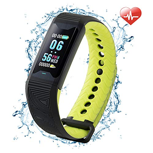 Fitness Tracker, Heart Rate Monitor【2019 Newest】HRV Activity Tracker Watch with Blood Oxygen Monitor, Sleep Monitor, Waterproof Smart Pedometer with Calorie Counter for Women Men Kid, Android & IOS