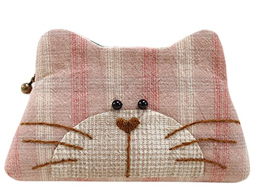 Kitty Purse Easy Sewing Project Complete Kit with Pattern (Pink)