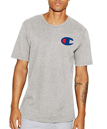 Champion Men's Big & Tall Graphic Logo T-Shirt (3XL, Heather Gray)