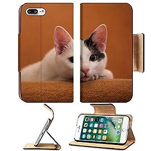 Luxlady Premium Apple iPhone 7 Plus Flip Pu Leather Wallet Case iPhone7 Plus 34733647 Cat relaxing on sofa