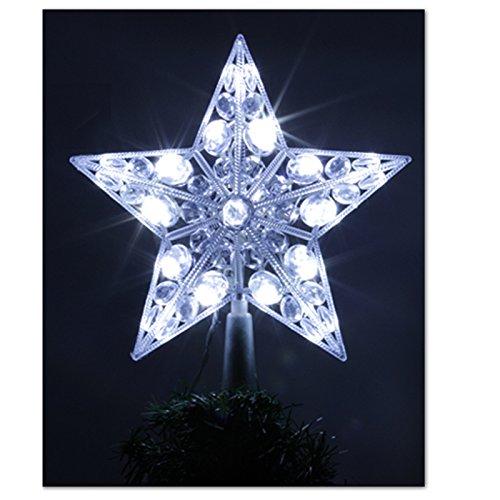 Stella Albero Di Natale Luminosa.Fomax Puntale Luminoso Per Esterni In Etoile 20 Led Colore Bianco
