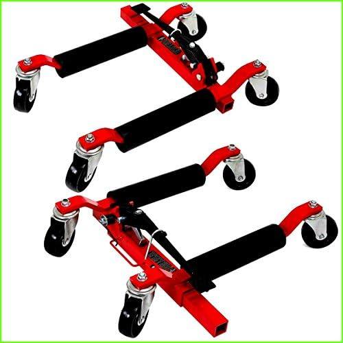 Wheel Dolly スチール製 移動 自動車 タイヤ リフト 高耐久 建設 車 トラック ガレージ 1ペア 2500ポンド 車両ポジショニング