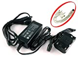 iTEKIRO AC Adapter Power Supply Kit for Canon EOS 5D Mark II, EOS 5D Mark III, EOS 6D, EOS 7D, EOS 60D, EOS 60Da, EOS 70D DLSR Cameras; Canon ACK-E6, 3351B002 + iTEKIRO 10-in-1 USB Charging Cable