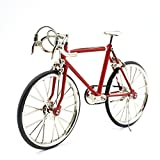 T.Y.S Racing Bike Model Alloy Simulated Road Bicycle Model Decoration Gift,Red