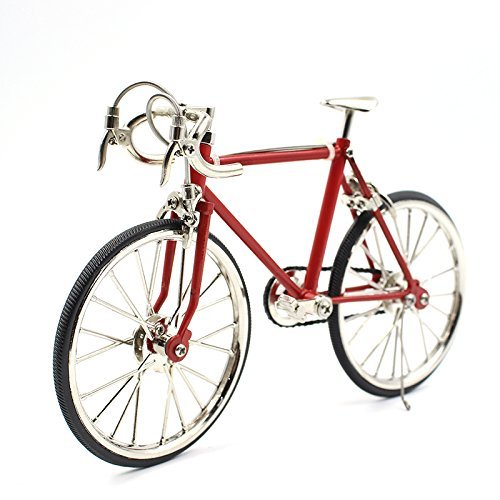 T.Y.S Racing Bike Model Alloy Simulated Road Bicycle Model Decoration Gift, Red