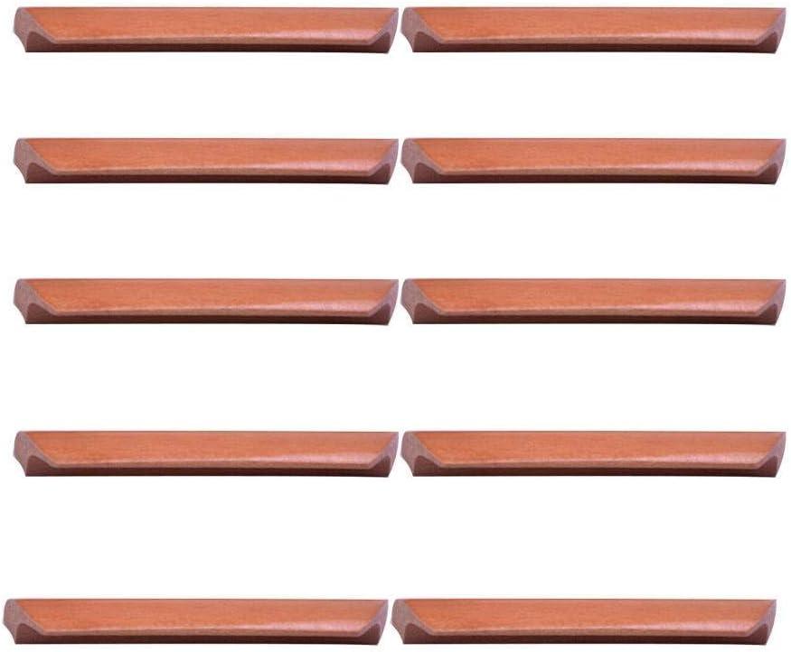 Bois Poign/ée de Porte 6pouce Vintage Forme D/éventail Tiroir Poign/ée Convient pour Bureau Salon Cuisine-10-Pi/èce couleur acajou-16cm