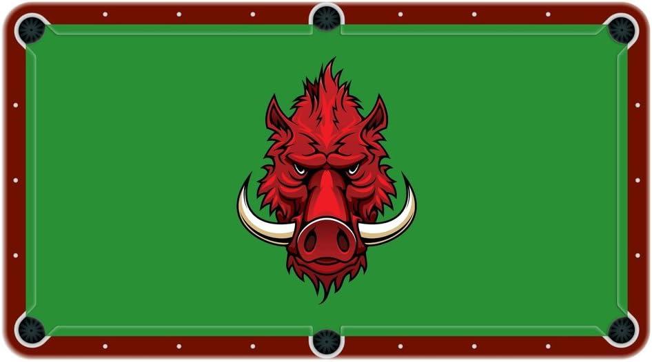 razorback Wild Hog High School College equipo mascota paño de billar mesa de billar fieltro: Amazon.es: Deportes y aire libre