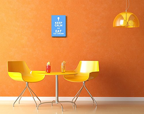 Keep Calm and Eat Icecream Wall Decor Stretched