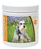 Healthy Breeds Dog Omega 3 & 6 Fish Oil Soft Chews for Miniature Schnauzer - Small Dog Formula – Over 50 Breeds –Supplement with Anchovy, Krill Oil – 60 Count – HP Skin and Coat Support