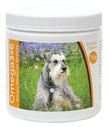 Healthy Breeds Dog Omega 3 & 6 Fish Oil Soft Chews for Mi...