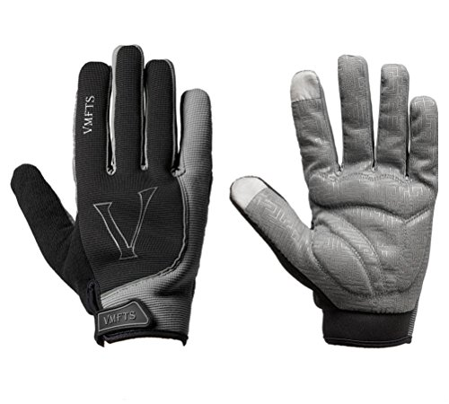 VMFTS Winter Cycling Gloves Driving Gloves Touch Screen Fleece Gloves with Gel Pading Full Finger for Cold Weather Outdoor Sporting Driving Climbing Hunting Fishing Hiking Black