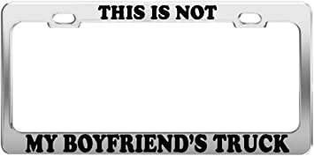 Lplpol Aluminum License Plate Frame I Love My Chiweenie License Plate Cover for US//CAN Vehicles