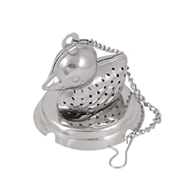 uxcell Duck Shaped Tea Infuser Strainer Mesh Ball Silver Tone
