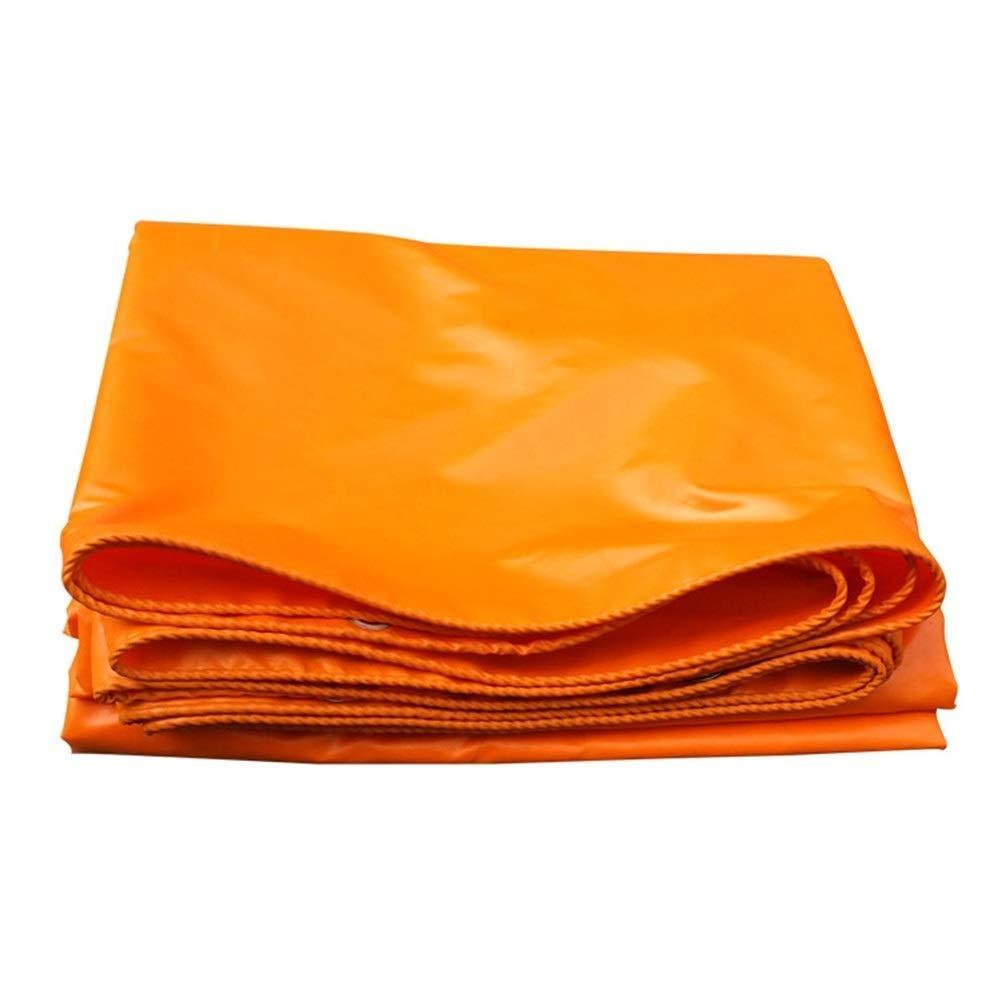 防水シート頑丈な、防水布日焼け止めトレーラーカバー、屋外トレーラーカバー、カバークロスタープ FENGMIMG (色 : Orange, サイズ さいず : 4x6M) 4x6M Orange B07QRPTD7T