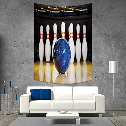 Beau Smallbeefly Bowling Party Home Decorations For Living Room Bedroom Blue  Abstract Ball On The Lane Pins Close Up View Sports Leisure Time Game Wall  Art Home ...