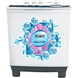 Mitashi 8.5 Kg Semi-automatic Top-loading Washing Machine (MiSAWM85v25 AJD, White and Grey)