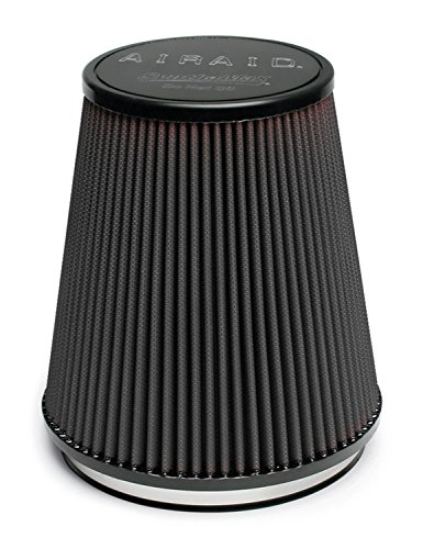 Airaid 702-462 Universal Clamp-On Air Filter: Round Tapered; 6 in (152 mm) Flange ID; 7 in (178 mm) Height; 7.5 in (191 mm) Base; 5 in (127 mm) Top