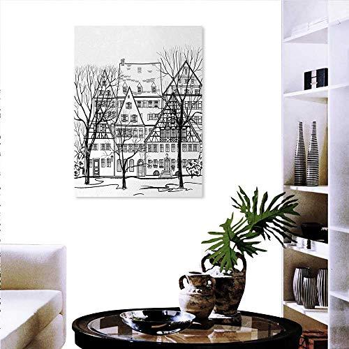 Warm Family Cityscape - Adhesivos de Pared Personalizables para Antena de Londres, diseño de Ciudad británica, Paisaje...