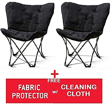 Collections Of Mainstays Folding Fabric Chair Black