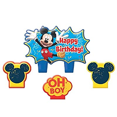 "Disney ""Mickey Mouse"" Mini Molded Cake Candles, Birthday: Toys & Games"
