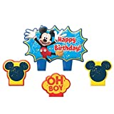 """Toys : Party Time Disney Mickey Mouse Mini Character Birthday Candle Set, Pack of 4, Multi , 1.25"""" Wax"""