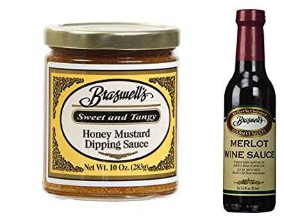 Honey Mustard Dipping Sauce with merlot wine sauce, verity pack by Braswells