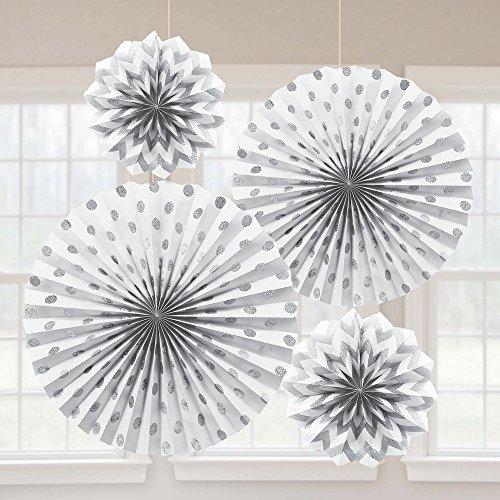 international white paper glitter hanging