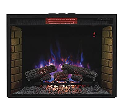 "ClassicFlame 33II310GRA 33"" Infrared Quartz Fireplace Insert with Safer Plug"