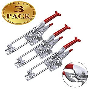 3-Pack 2000lbs Capacity Heavy Duty Toggle Clamps Adjustable Latch U Bolt Self-lock Toggle Latch