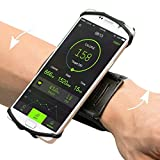 VUP iPhone X/ 8/8 Plus7/ 7 Plus/ 6/ 6S Plus Wristband, 180° Rotatable Phone Holder Forearm Armband Ideal for Jogging Running Compatible with Samsung Galaxy S8/S7 & 4.0''-5.5'' Smartphone (Black)
